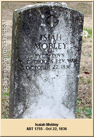 Isiah Mobley Tombstone