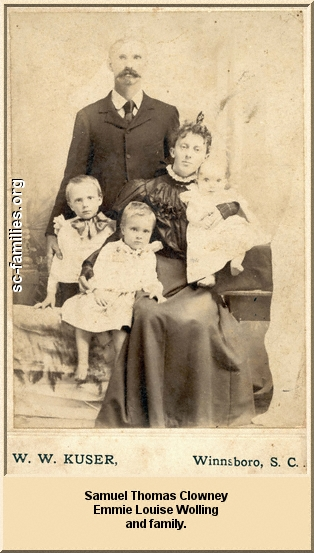 Samuel Thomas Clowney, Emmie Louise Wolling and family.