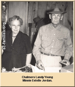 Chalmers Landy Young and Minnie Estelle Jordan.