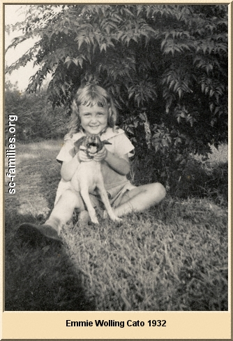Emmie Cato with dog 1932